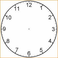 Clock Face Template 24 blank clock face mucho bene 1