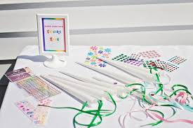 rainbow bead craft my little pony craft unicorn decorating station