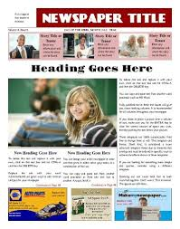 Free Front Page Newspaper Template This Front Page Template Allows For Advertisements Where They Are