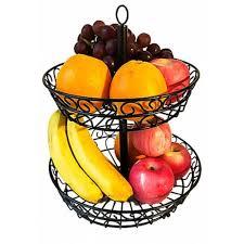 2 tier countertop fruit basket holder decorative bowl stand fruits vegetables snacks household item 24 33 free gearbest com