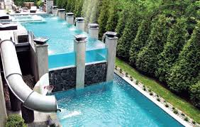 home pools with waterslides. Perfect Pools Home Swimming Pool Backyard Waterslide Design And Pools With Waterslides