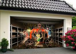 garage door murals3D Elven Carriage Garage Door Murals Wall Print Decal Wall Deco AJ