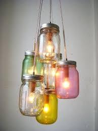 mason jar ceiling light lights fixture wedding chandelier rustic hanging bathroom diy mason jar ceiling light with