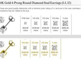 Diamond Stud Size Chart Best Size Diamond Stud Earrings Stud Earrings References