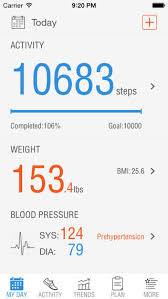 Track My Blood Pressure Pacer Pedometer Weight Tracker Blood Pressure Iphone Apps Finder