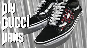 gucci vans. diy gucci inspired vans // jaylen montay gucci vans u