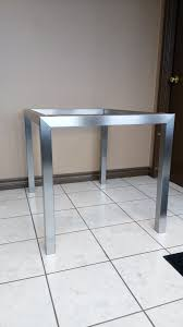 Steel Coffee Table Frame Custom Stainless Steel Metal Table Frame Finished In A Brushed