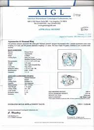 Aquamarine Clarity Chart 18k Gold 4 55ct Aquamarine 1 21ctw Diamond Ring