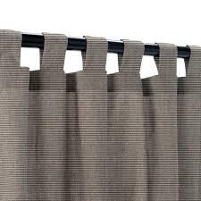 sunbrella canvas coal outdoor curtain