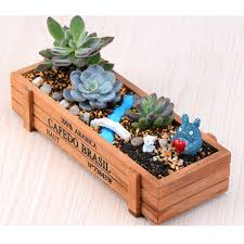 garden plant pots for sale. garden planters sale promotion-shop for promotional new hot natural rectangle wooden succulent plant flower bed pot box planter pots