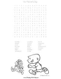 st patricks day word search free printable st patricks day word search du�an �ech on word search worksheets free