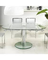 round glass extending dining table of excellent extendable equalvote