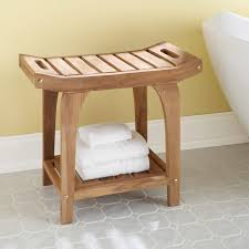 image quarter bamboo bathroom stool teak bathroom accessories hophe teak bathroom accessories  l teak rectangular shower stool handles