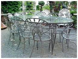 salterini outdoor furniture. Salterini Furniture Wrought Iron Riviera Patio Set  Extra Large Table 8 Chairs . For Outdoor