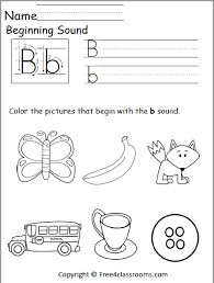 Here, you will find free phonics worksheets to assist in learning phonics rules for reading. Free Beginning Sounds Worksheet Letter B Free4classrooms