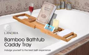 Made of high-quality bamboo with smooth finish, this bathtub caddy is  high-resistant and long-lasting to offer you the relaxing time you deserve.