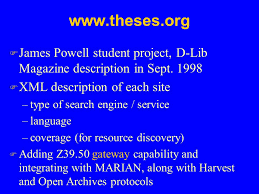 electronic theses and dissertations etds improving graduate   theses org f james powell student project d lib magazine description