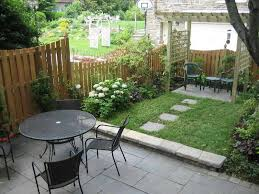 Small Yard Landscaping Design With Small Terrace