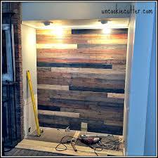 mixed wood wall easy diy