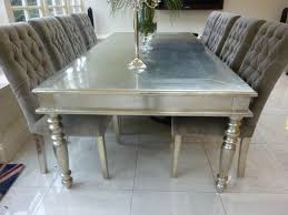 White Metal Dining Table