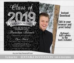 High School Graduation Announcement High School Graduation Invitations High School Graduation Announcement Senior Graduation Invitations Class Of 2019 Party Invitation