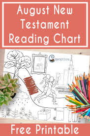 Augusts New Testament Reading Chart Chicken Scratch N Sniff
