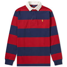 polo ralph lauren stripe rugby shirt eaton red newport navy 1