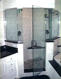 half shower door wall glass walls walk in with and doors panels frame two block designs bottom seal 1 2 inch