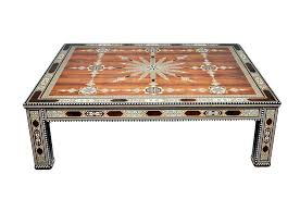 kitchen inlaid coffee table deluxe arabesque inlay the ancient home glass
