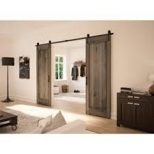 rustic barn door wall mount sliding door system for 1 wood door richelieu hardware