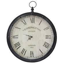 stratton home decor pocket watch clock black