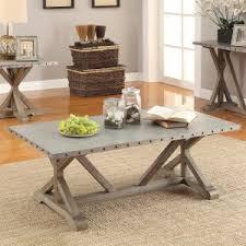 metal top coffee table. Coaster Furniture Metal Top Industrial Coffee Table N