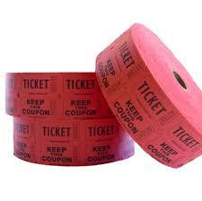2 part raffle tickets 2 part raffle tickets red