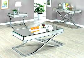 mirrored coffee table round round mirrored coffee table mirror ed s herringbone inside and end tables