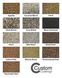 Valley Rolling Color Chart Epoxy Pebble Stone Color Chart In 2019 Pebble Stone