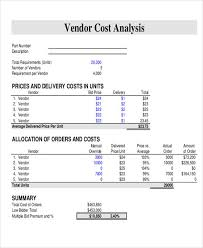 40 Vendor Analysis Free Sample Example Format Download Sample Beauteous Cost Analysis Format