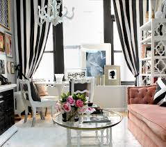 black white and pink home office black and white home office