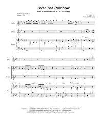 exultet sheet music over the rainbow from the wizard of oz duet for flute and bb
