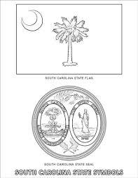 Symbolen Van De Staat South Carolina Kleurplaat Gratis Kleurplaten