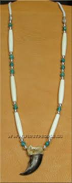 american indian made bear claw necklace
