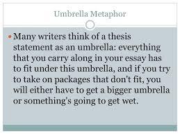 essay reminders ppt umbrella metaphor