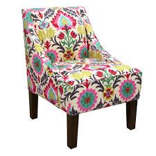 skyline swoop arm chair in santa maria desert flower  hayneedle