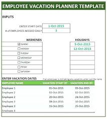 Vacation Planner Template Excel 2018 Printable Lytte Co