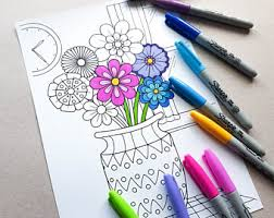 Small Picture Adult colouring page Etsy