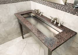 trough style stainless steel sink 50 x 21