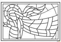 Spring Stained Glass Coloring Pages With Stained Glass Coloring