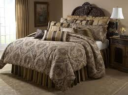 aico furniture lucerne gold brown paisley 12 pc queen bedding set mabcs