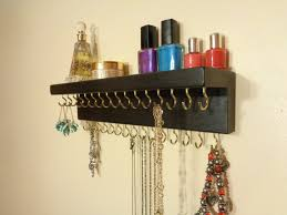 Jewelry Holder Wall 30 Color Finish Choices Jewelry Necklace Organizer Jewelry