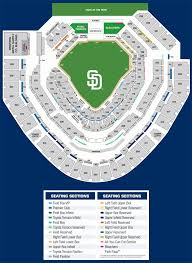 Padres Seating Chart You Will Love Petco Park Seating Chart With Row Numbers San