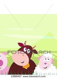 cute farm animals drawings. Delighful Farm Clip Art  Cute Farm Animals Fotosearch Search Clipart Illustration  Posters Drawings With Animals O